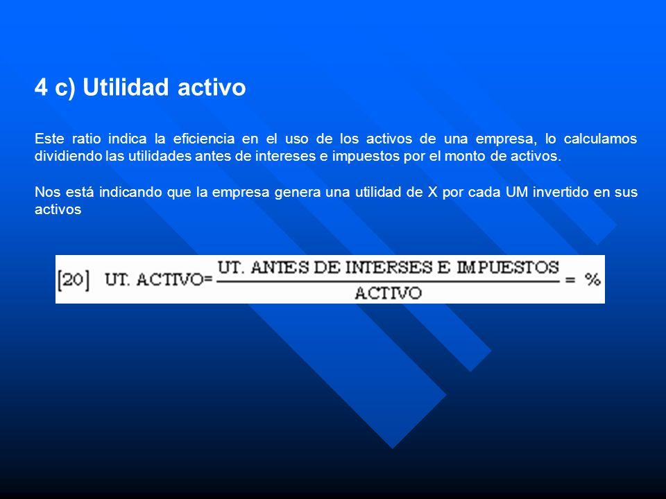 4 c) Utilidad activo