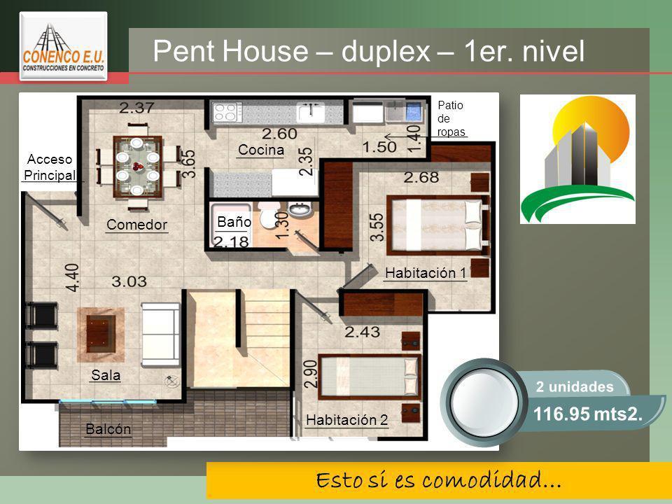 Pent House – duplex – 1er. nivel