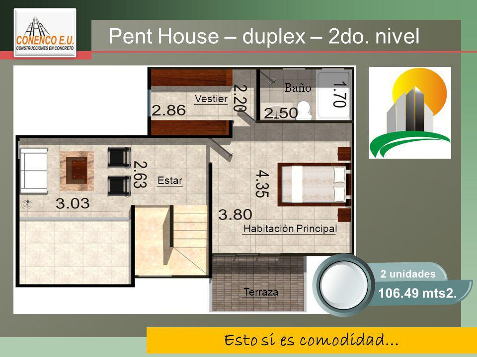 Pent House – duplex – 2do. nivel