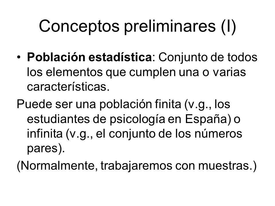 Conceptos preliminares (I)