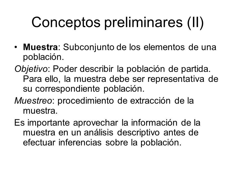 Conceptos preliminares (II)