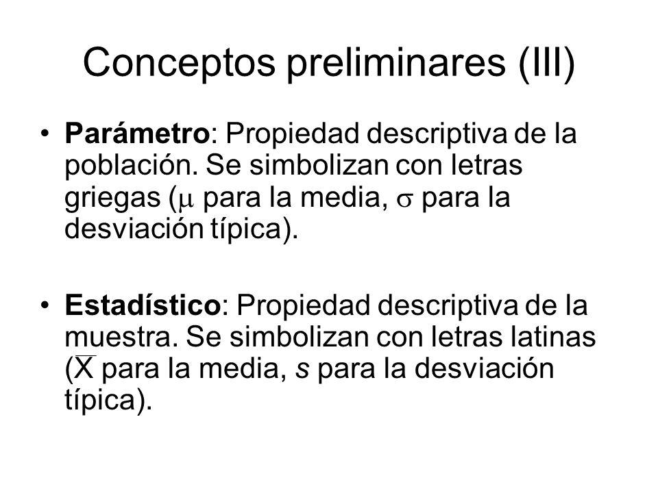 Conceptos preliminares (III)