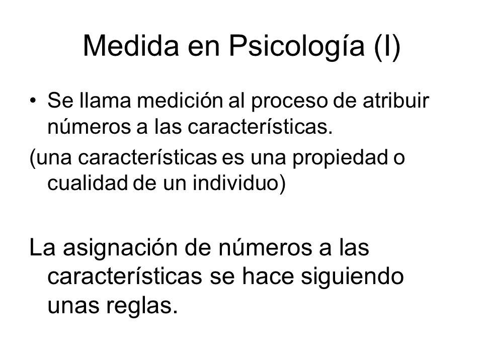 Medida en Psicología (I)