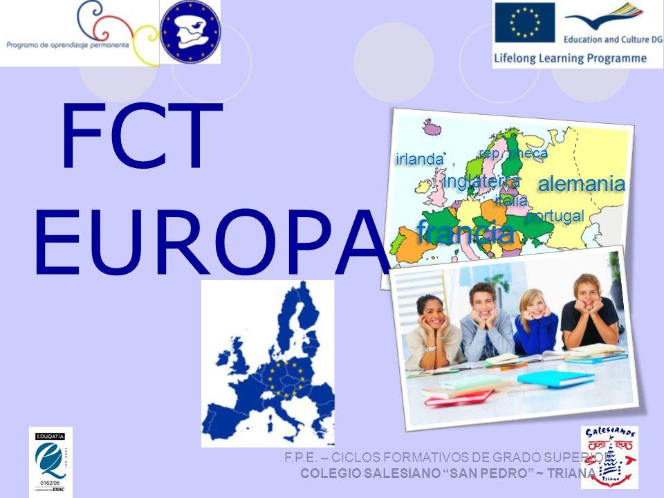 FCT EUROPA francia alemania inglaterra irlanda italia portugal