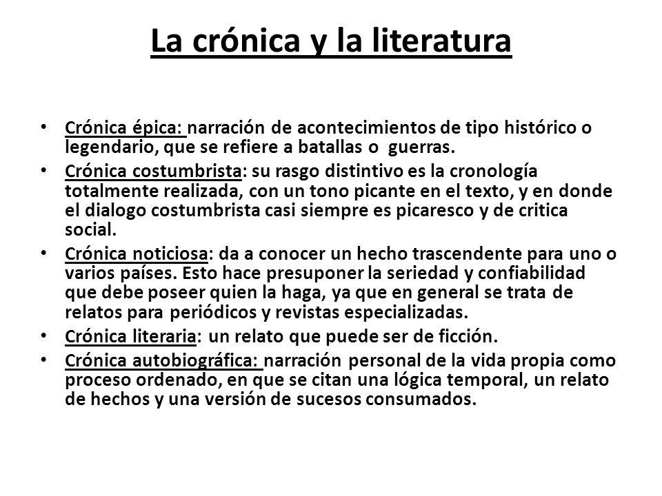 La crónica y la literatura