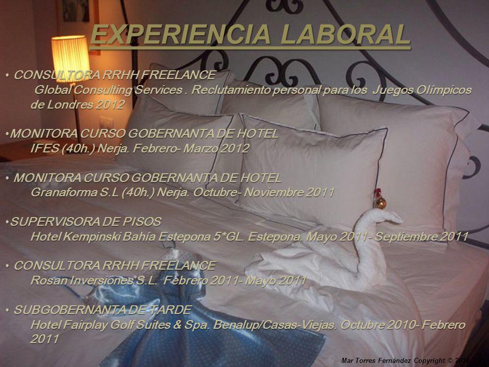 EXPERIENCIA LABORAL CONSULTORA RRHH FREELANCE