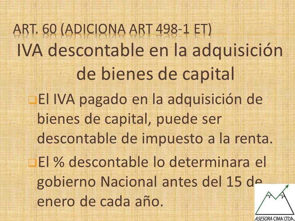 IVA descontable en la adquisición de bienes de capital