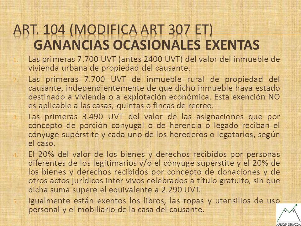 GANANCIAS OCASIONALES EXENTAS