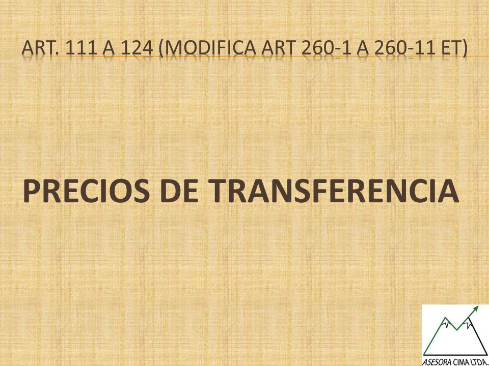 Art. 111 a 124 (MODIFICA art 260-1 a 260-11 et)