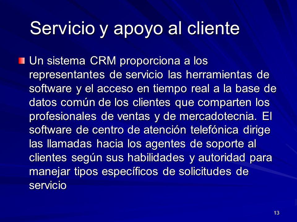 Servicio y apoyo al cliente