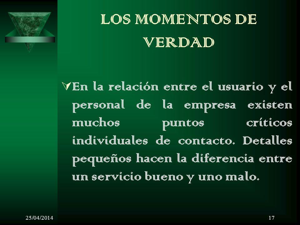LOS MOMENTOS DE VERDAD