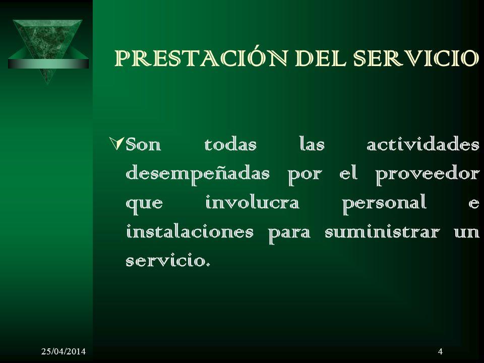 PRESTACIÓN DEL SERVICIO