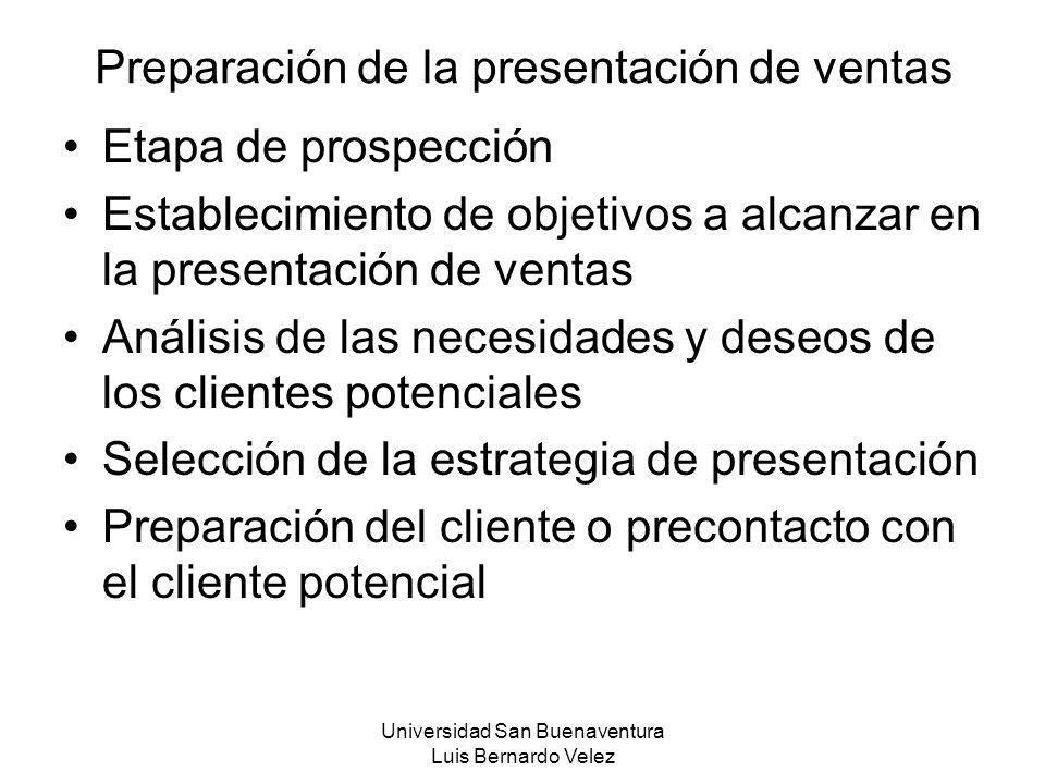 Preparación de la presentación de ventas