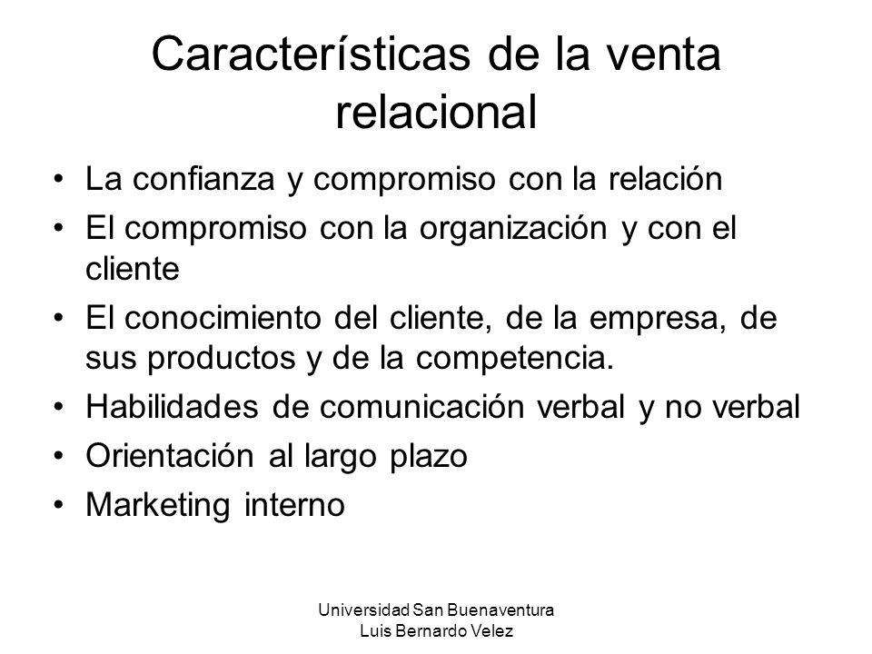 Características de la venta relacional