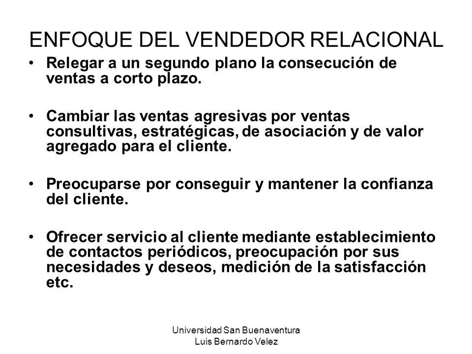 ENFOQUE DEL VENDEDOR RELACIONAL
