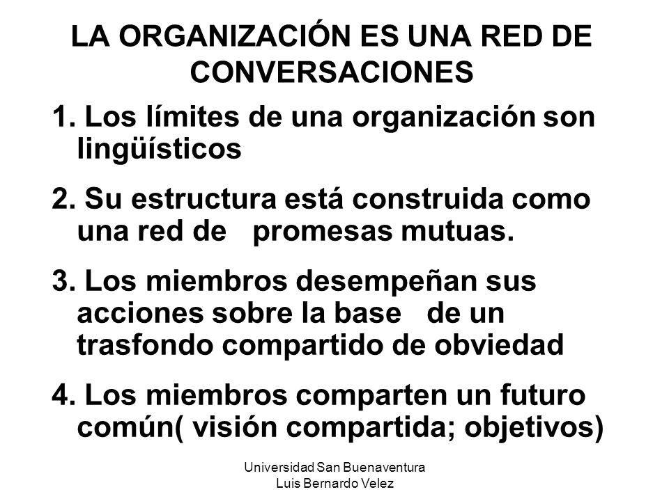 LA ORGANIZACIÓN ES UNA RED DE CONVERSACIONES
