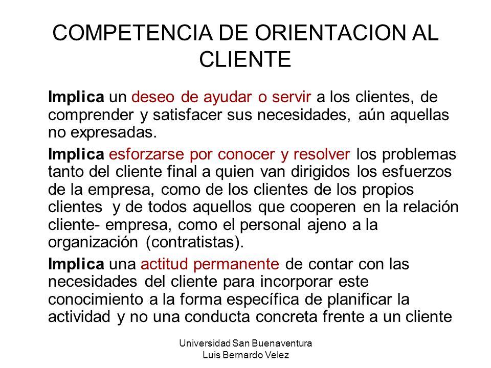COMPETENCIA DE ORIENTACION AL CLIENTE