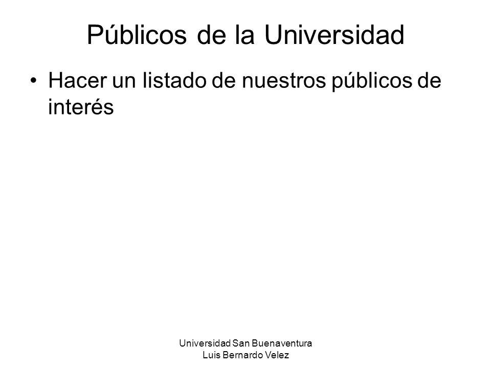 Públicos de la Universidad