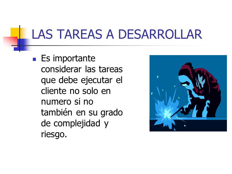 LAS TAREAS A DESARROLLAR