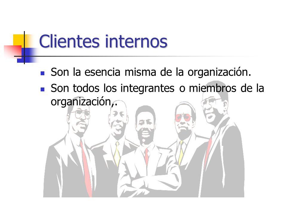 Clientes internos Son la esencia misma de la organización.