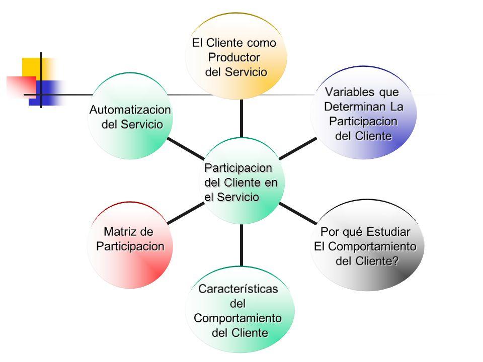 Participacion del Cliente en el Servicio