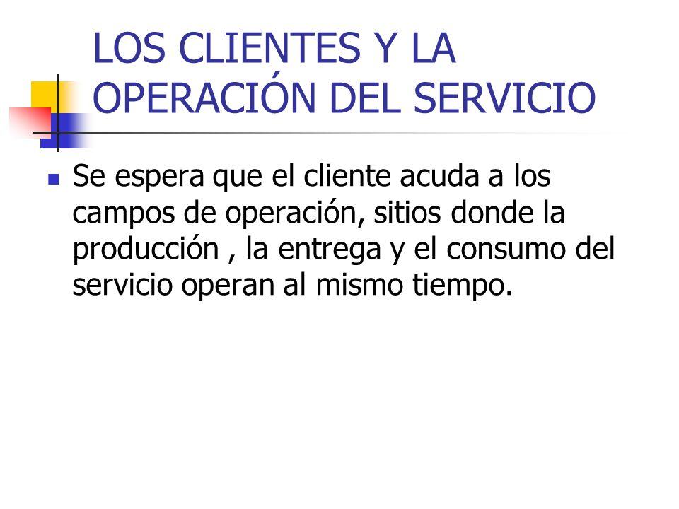 LOS CLIENTES Y LA OPERACIÓN DEL SERVICIO