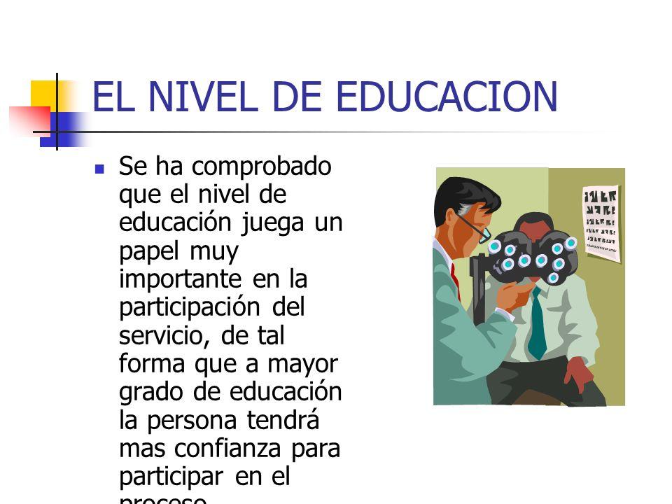 EL NIVEL DE EDUCACION