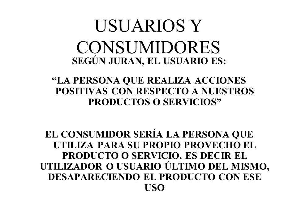 USUARIOS Y CONSUMIDORES