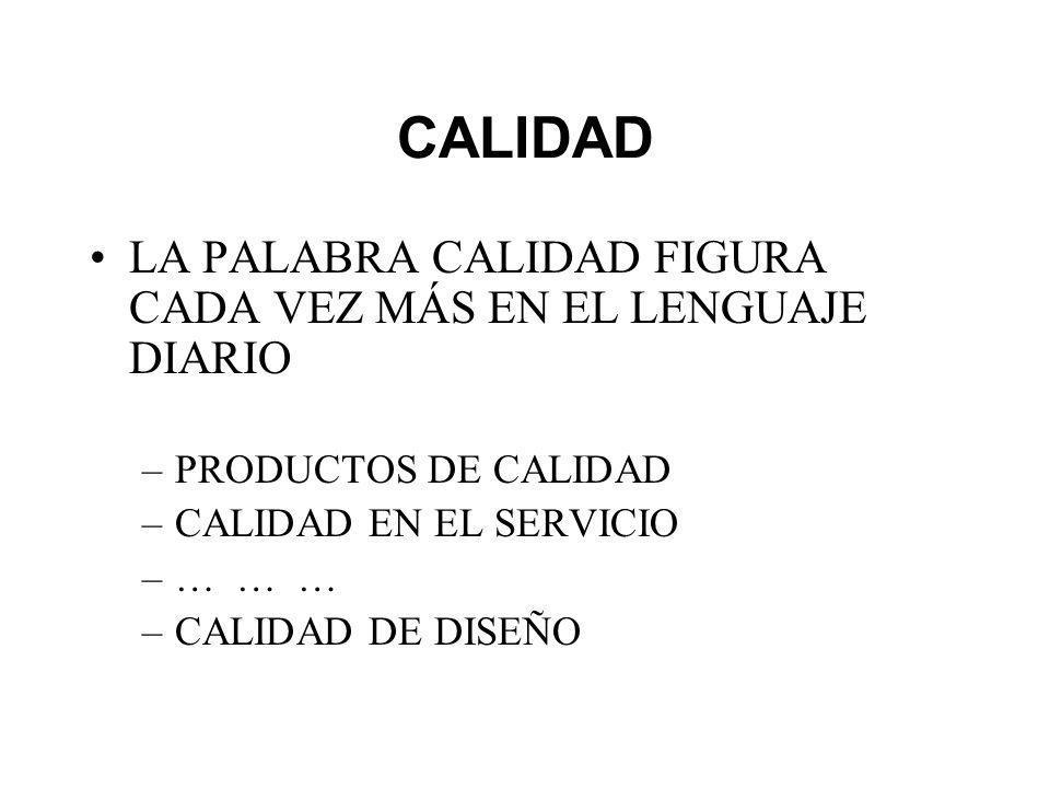 CALIDAD LA PALABRA CALIDAD FIGURA CADA VEZ MÁS EN EL LENGUAJE DIARIO