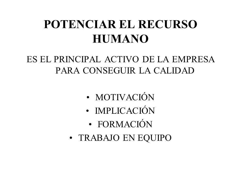 POTENCIAR EL RECURSO HUMANO