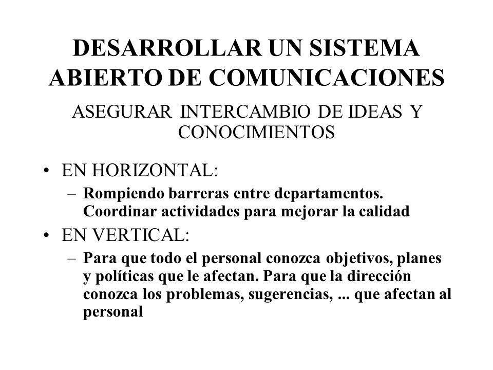 DESARROLLAR UN SISTEMA ABIERTO DE COMUNICACIONES