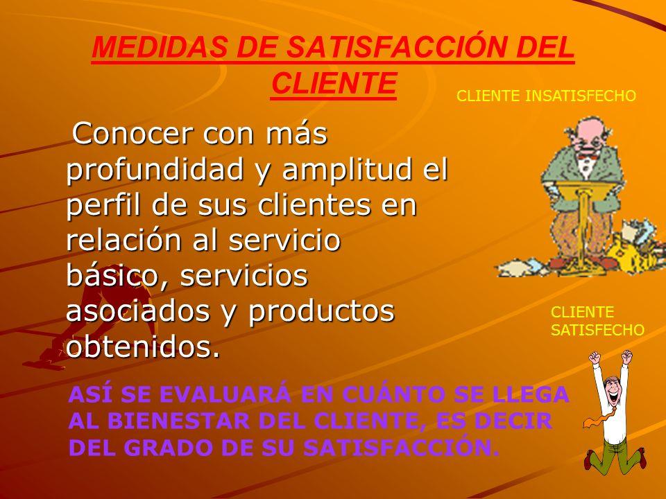 MEDIDAS DE SATISFACCIÓN DEL CLIENTE