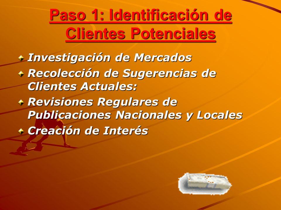 Paso 1: Identificación de Clientes Potenciales