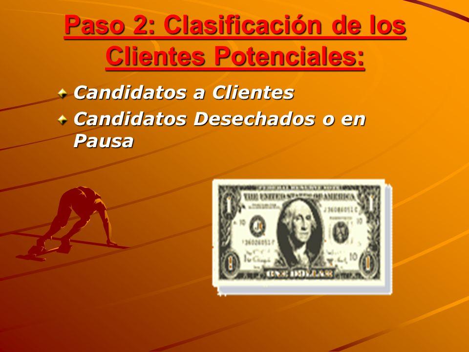 Paso 2: Clasificación de los Clientes Potenciales:
