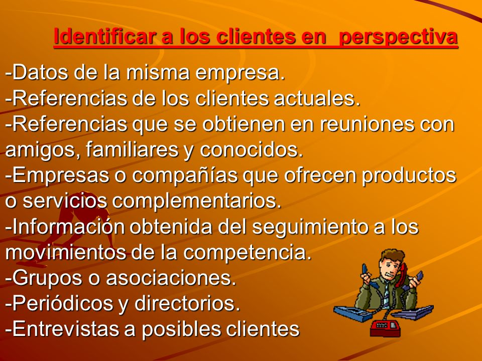Identificar a los clientes en perspectiva