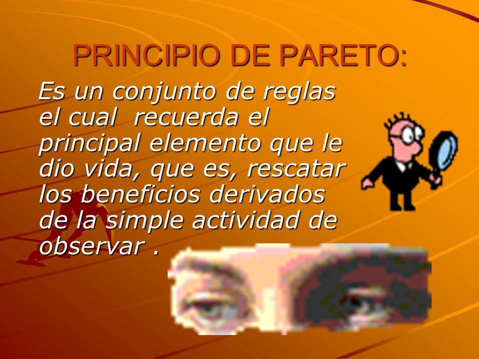 PRINCIPIO DE PARETO: