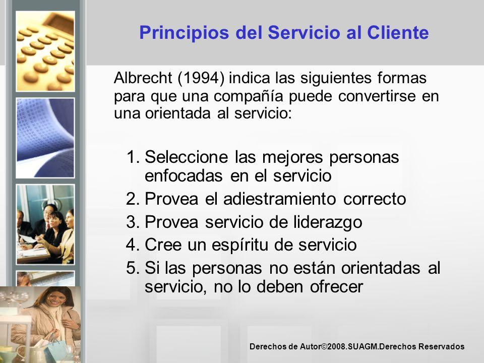 Principios del Servicio al Cliente