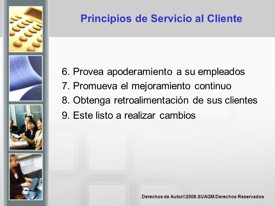 Principios de Servicio al Cliente