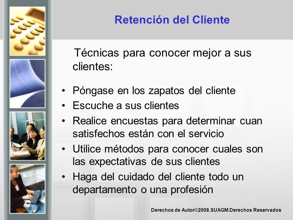 Técnicas para conocer mejor a sus clientes: