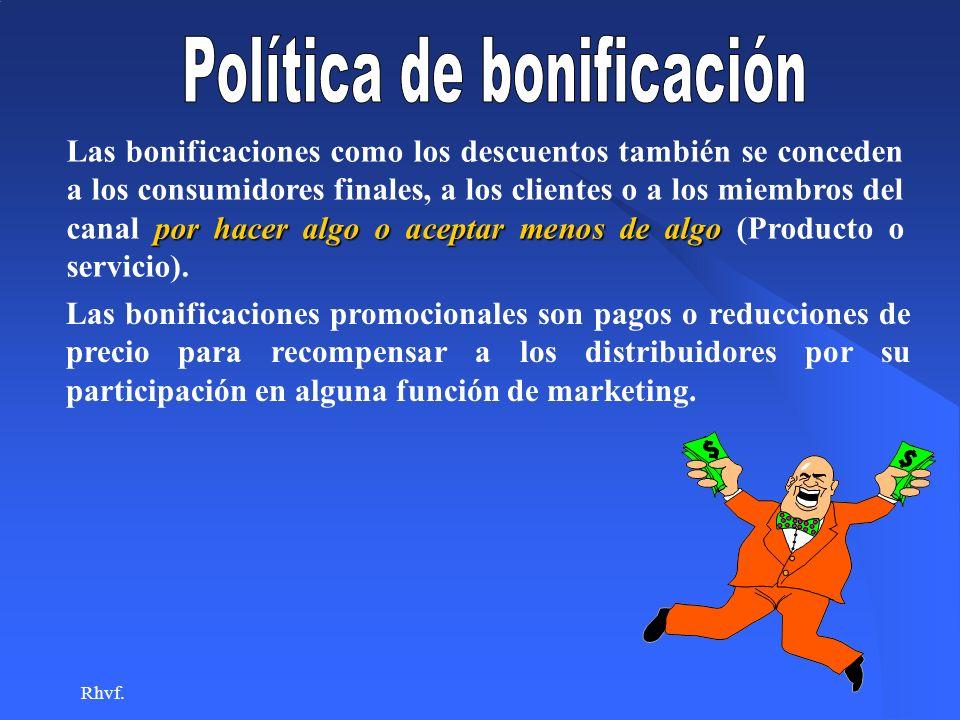 Política de bonificación