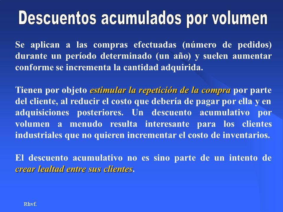 Descuentos acumulados por volumen