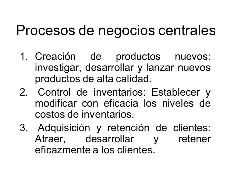 Procesos de negocios centrales