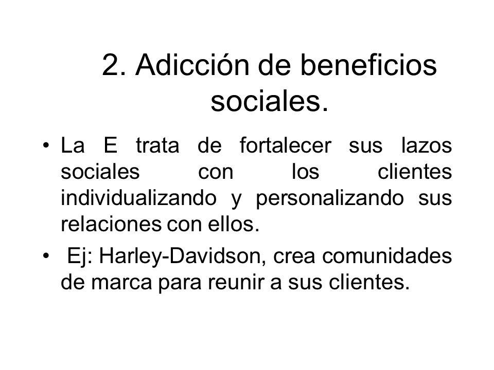 2. Adicción de beneficios sociales.