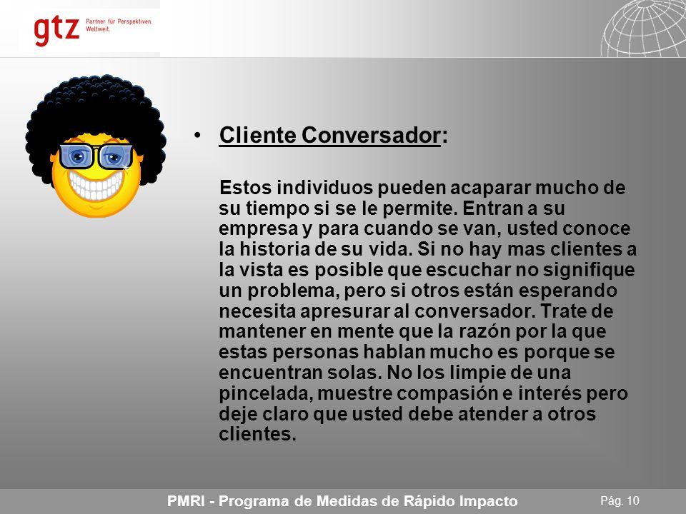 Cliente Conversador: