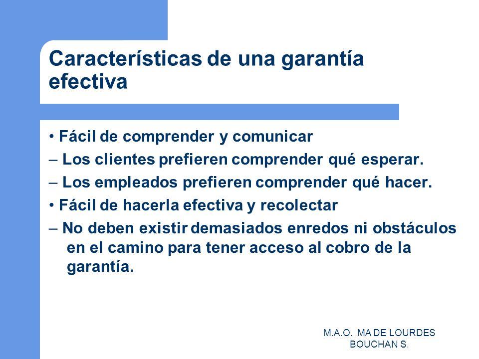Características de una garantía efectiva