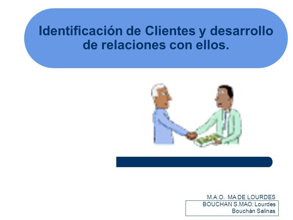 Identificación de Clientes y desarrollo de relaciones con ellos.