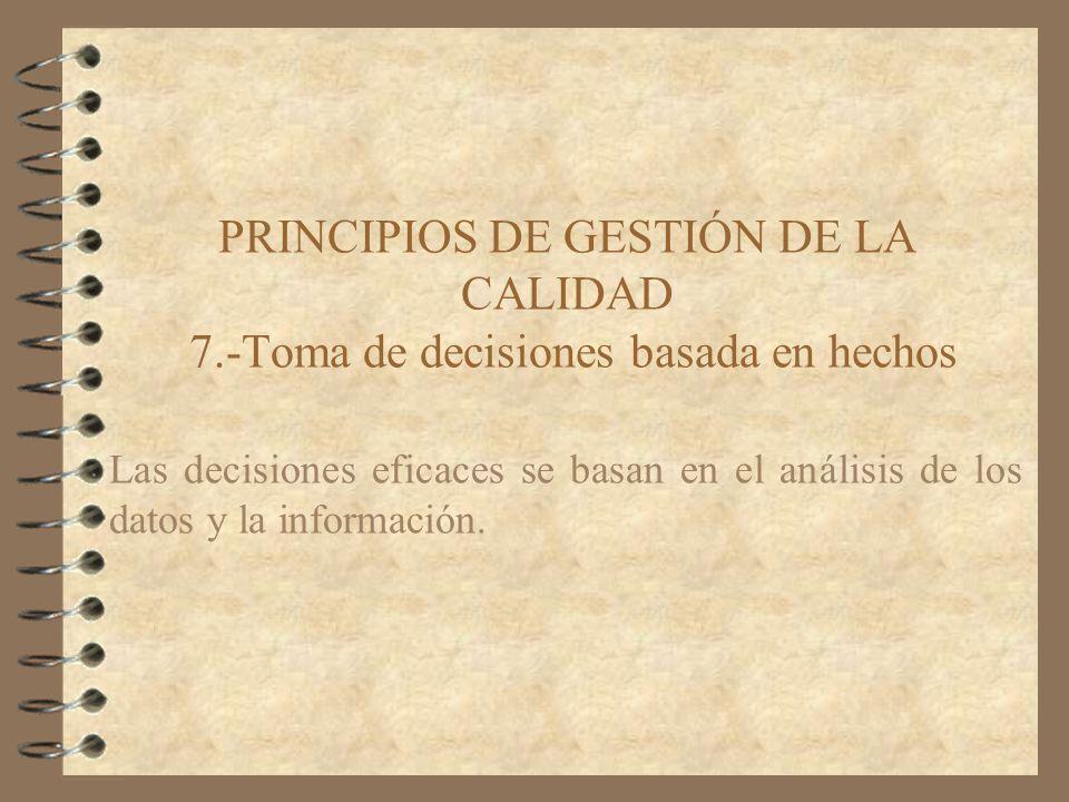 PRINCIPIOS DE GESTIÓN DE LA CALIDAD 7