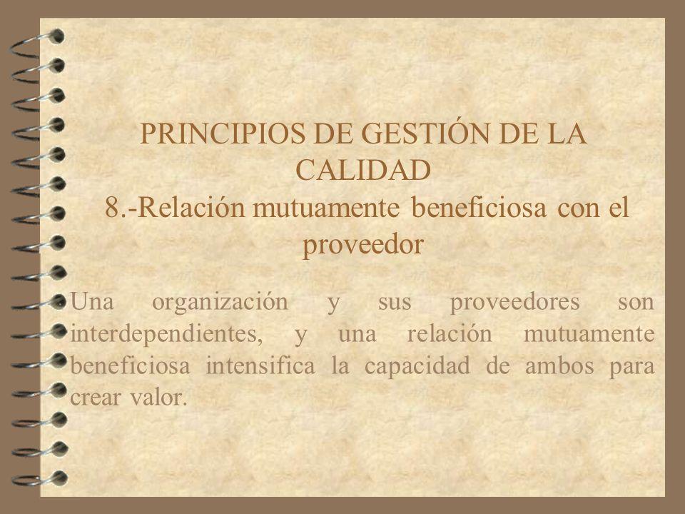 PRINCIPIOS DE GESTIÓN DE LA CALIDAD 8