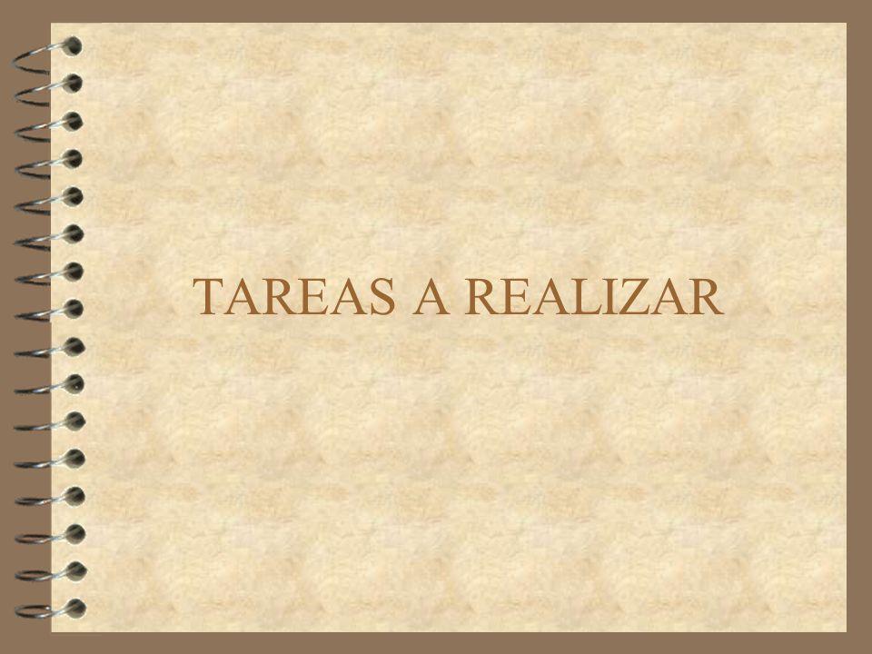 TAREAS A REALIZAR