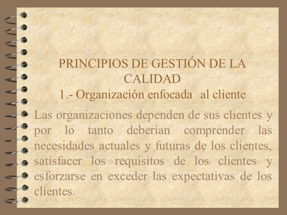 PRINCIPIOS DE GESTIÓN DE LA CALIDAD 1